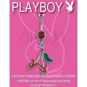 PLAYBOY Piercing für den Bauchnabel - Bunnies Kirschen