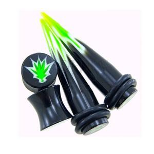 Marihuana Taper und Plug - Set von 2 Plugs + 2 Tapers