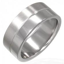 Ring aus Chirurgenstahl mit Streifen in der Mitte