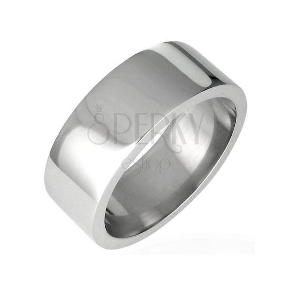 Glatter Hochglanz Ring aus Stahl, breit, 8 mm