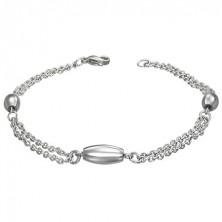 Armband aus Edelstahl - drei ovale Verzierungen