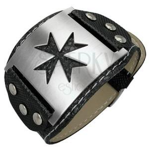 Armband aus Schlangenlederimitat - keltisches Kreuz