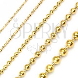 Kugelkette aus Chirurgenstahl, vergoldet, glänzend