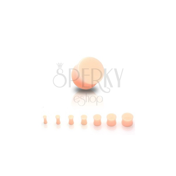 UV Ohrplug in Marmoroptik, Sattelform und Hautfarbe